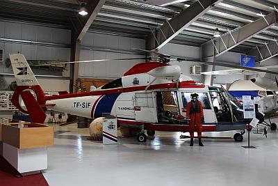 Rettungshubschrauber im Flugzeugmuseum