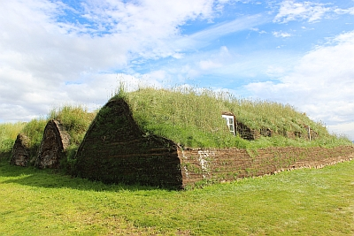 Häuser aus Torf in Glaumbär