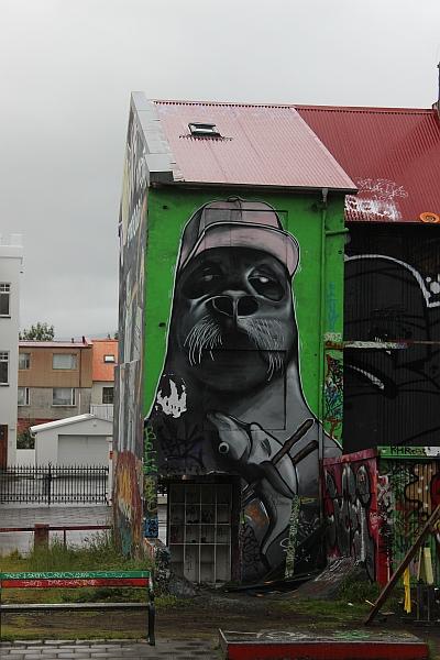 Graffiti auf Isländisch