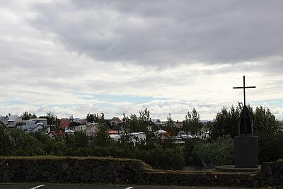 Blick über Hafnafjördur