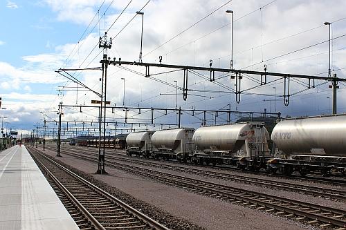 Waggons mit Eisenerz in Kiruna